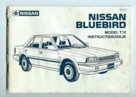 Nissan Bluebird Model T12 Instructieboekje 86 #3 Nederlands