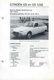 Citroen GS GS 1220  Vraagbaak ATH 71-74 #3 Nederlands