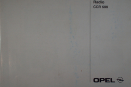 Opel Radio CCR 600  Instructieboekje 99 #1 Engels Frans Duits Spaans Portugees