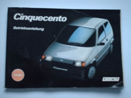 Fiat Cinquecento  Instructieboekje 94 #3 Duits