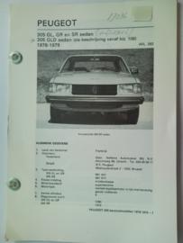 Peugeot 305 305 GLD = Diesel  Vraagbaak ATH 78-79 #2 Nederlands