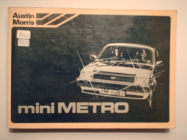 Austin Metro  Instructieboekje 80 #1 Nederlands