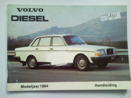 Volvo 240 Diesel  Instructieboekje 84 #1 Nederlands