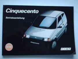 Fiat Cinquecento  Instructieboekje 94 #1 Duits