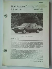 Opel Ascona C  Vraagbaak ATH 81-83 #1 Nederlands