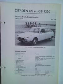 Citroen GS GS 1220  Vraagbaak ATH 71-74 #1 Nederlands