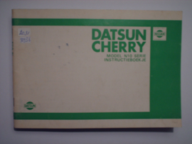 Datsun Cherry Model N10 Instructieboekje 79 #3 Nederlands
