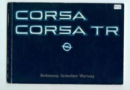 Opel Corsa A TR  Instructieboekje 83 #4 Duits