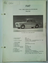Fiat 1100R  Vraagbaak ATH 66-67 #2 Nederlands