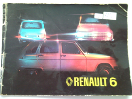 Renault 6  Instructieboekje 77 #1 Nederlands