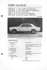 Ford Taunus  Vraagbaak ATH 76-77 #2 Nederlands