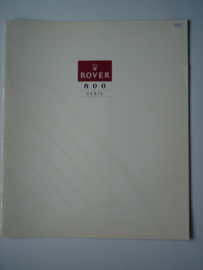 Rover 800  Brochure 93 #1 Nederlands
