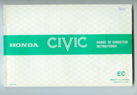 Honda Civic  Instructieboekje 80 #1 Nederland Frans Engels Duits