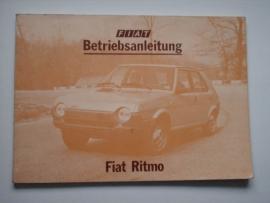 Fiat Ritmo  Instructieboekje 80 #1 Duits