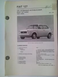 Fiat 127  Vraagbaak ATH 71-75 #2 Nederlands