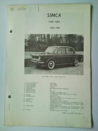 Simca 1000  Vraagbaak ATH 61-63 #3 Nederlands