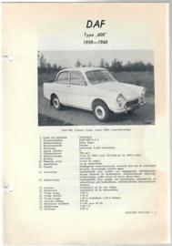 Daf 600  Vraagbaak ATH 59-60 #1 Nederlands