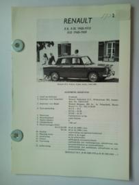 Renault R8 R10  Vraagbaak ATH 68-70 #2 Nederlands