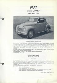 Fiat 500  C  Vraagbaak ATH 49-53 #1 Nederlands