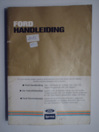 Ford Alle Modellen  Instructieboekje 83 #1 Nederlands