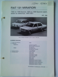 Fiat 131 Mirafiori Vraagbaak ATH 75-77 #2 Nederlands
