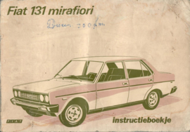 Fiat 131 Mirafiori Instructieboekje 75 #1 Nederlands