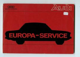 Auto Union  Onderhoudsboekje 69 #1 Nederland Frans Engels Duits