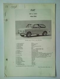 Fiat 850 850S  Vraagbaak ATH 64-65 #2 Nederlands