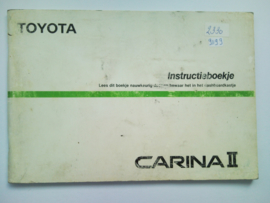 Toyota Carina II  Instructieboekje 85 #2 Nederlands