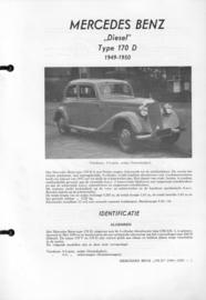 Mercedes-Benz Type 170 D   Vraagbaak ATH 49-50 #1 Nederlands