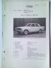 Ford Zephyr V4 en V6  Vraagbaak ATH 62-63 #2 Nederlands