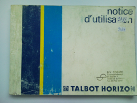 Talbot Horizon  Instructieboekje 77 #1 Frans