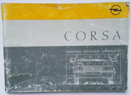 Opel Corsa A  Instructieboekje 88 #1 Nederlands