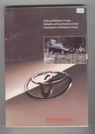 Toyota Distributors and Dealers in Europa  Instructieboekje 95 #1