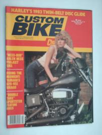 Costum Bike Choppers Tijdschrift 1983 Maart #1 Engels