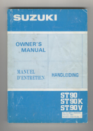 Suzuki ST90  Instructieboekje 83 #1 Nederlands Frans Engels