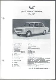 Fiat 124  Vraagbaak ATH 66-67 #4 Nederlands