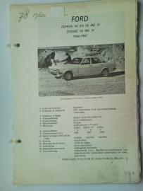 Ford Zephyr V4 en V6 Zodiac V6  Vraagbaak ATH 66-67 #4 Nederlands