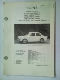Rootes Hillman Minx Sunbeam  Vraagbaak ATH 65-67 #1 Nederlands