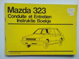 Mazda 323  Instructieboekje 81 #3 Nederlands Frans