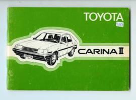Toyota Carina II  Instructieboekje 84 #3 Nederlands