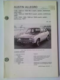 Austin Allegro  Vraagbaak ATH 73-77 #1 Nederlands