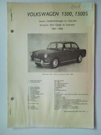 Volkswagen 1500 1500S  Vraagbaak ATH 61-64 #1 Nederlands