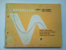 Honda CR125R  Onderdelenboek 79 #1 Engels Frans Duits Spaans