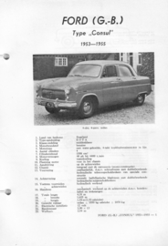 Ford Consul  Vraagbaak ATH 53-55 #1 Nederlands