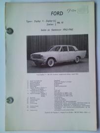 Ford Zephyr V4 en V6  Vraagbaak ATH 62-63 #1 Nederlands