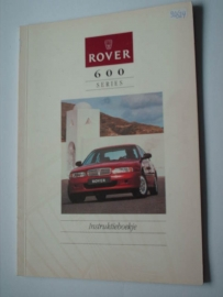 Rover 600  Instructieboekje 93 #1 Nederlands