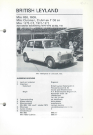 British Leyland Mini 850 1000 1100 1250  Vraagbaak ATH 70-78 #1 Nederlands