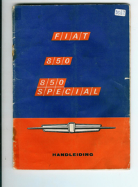 Fiat 850 Special  Instructieboekje 68 #2 Nederlands