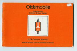 Oldsmobile Cutlass Cruiser Series  Instructieboekje 77 #1 Engels